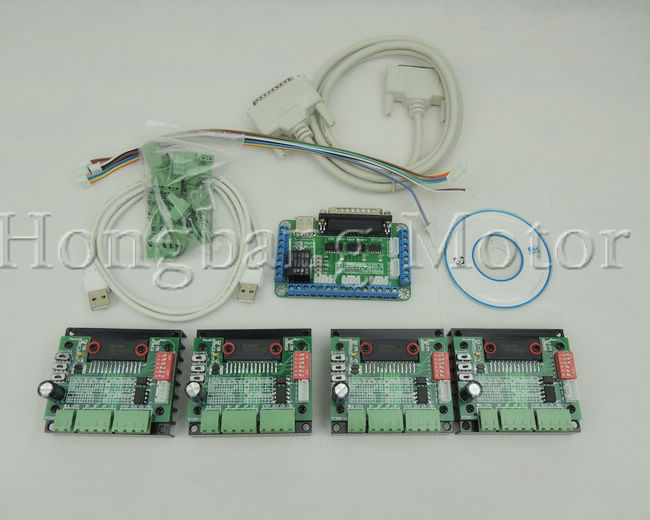 CNC 4 Axis TB6560 Stepper Motor Driver Controller Board Kit,57 two-phase,3A free shipping high quality 4 axis tb6560 cnc stepper motor driver controller board 12 36v 1 5 3a mach3 cnc 12