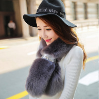 JKP new Women 100% Real Rex rabbit fur scarf Rex rabbit worm and soft fashion