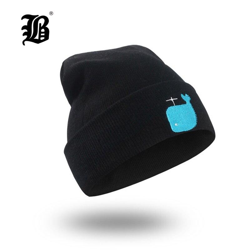 [FLB] New Women's winter Fall hat fashion knitted black ski hats warm hat cap Bonnet Girl   Skullies     Beanie   Soft Knitted FK7955