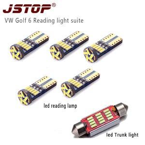 JSTOP 6piece/set led car reading light 41mm c5w festoon led Trunk light canbus 12VAC bulbs w5w t10 led automobile reading lamps