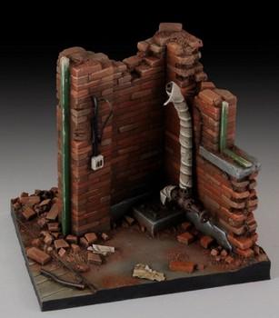 1 35 skala WW2 wojny Building Model scena fabryki ruiny miniatury ii wojny światowej żywicy zestaw modeli do składania rysunek darmowa wysyłka tanie i dobre opinie Z żywicy do budynków 6 lat WWII Unisex FPJ TOYS resin model resin kit miniatures