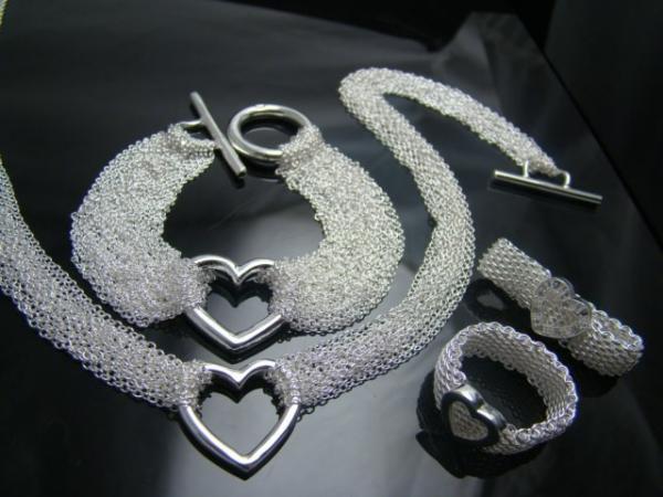 Wholesale! Fashion jewelry,  925 silver Necklace + Bracelet   Set 068