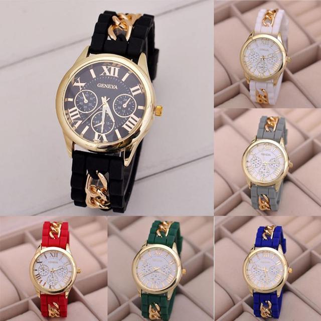 Fashion Women Wristwatch Bracelets Girls Quartz Watch Silicone And Stainless Ste