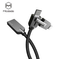 Mcdodo 2 In 1 Knight Swries Zinc Alloy Charging Cable Lightnin Micro USB Cable Fast Charging