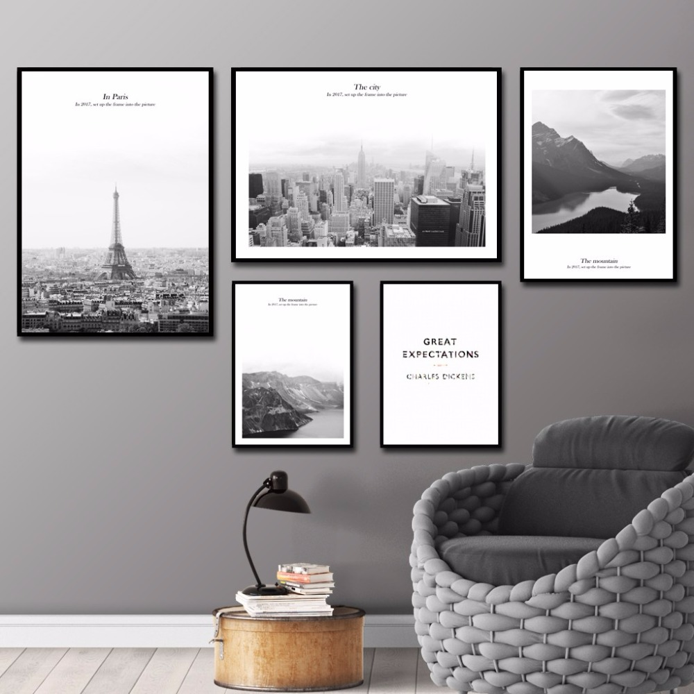 paris framed art promotionshop for promotional paris framed art  - modern wall art the city paris wall pictures for living room homedecorations canvas painting painel decorativo no frame