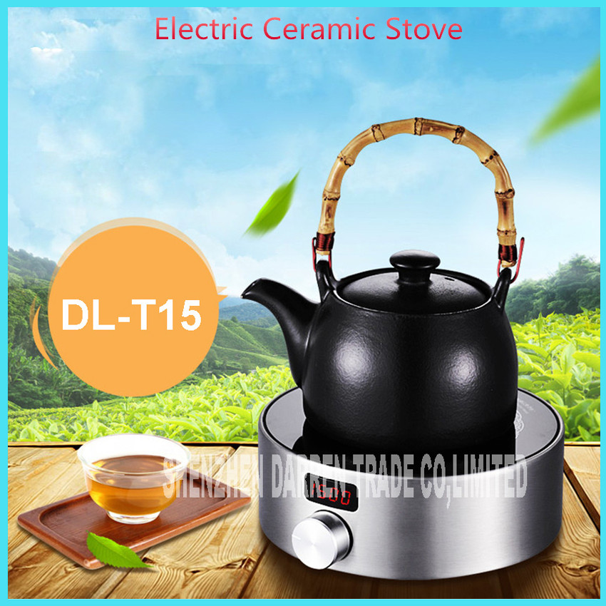 220V Intelligent electric ceramic stove mini portable household electromagnetic  Kung Fu Tea cooker  DL-T15 wholesale italics opening film ru ru tea sets tea set ceramic kung fu tea pot clouds