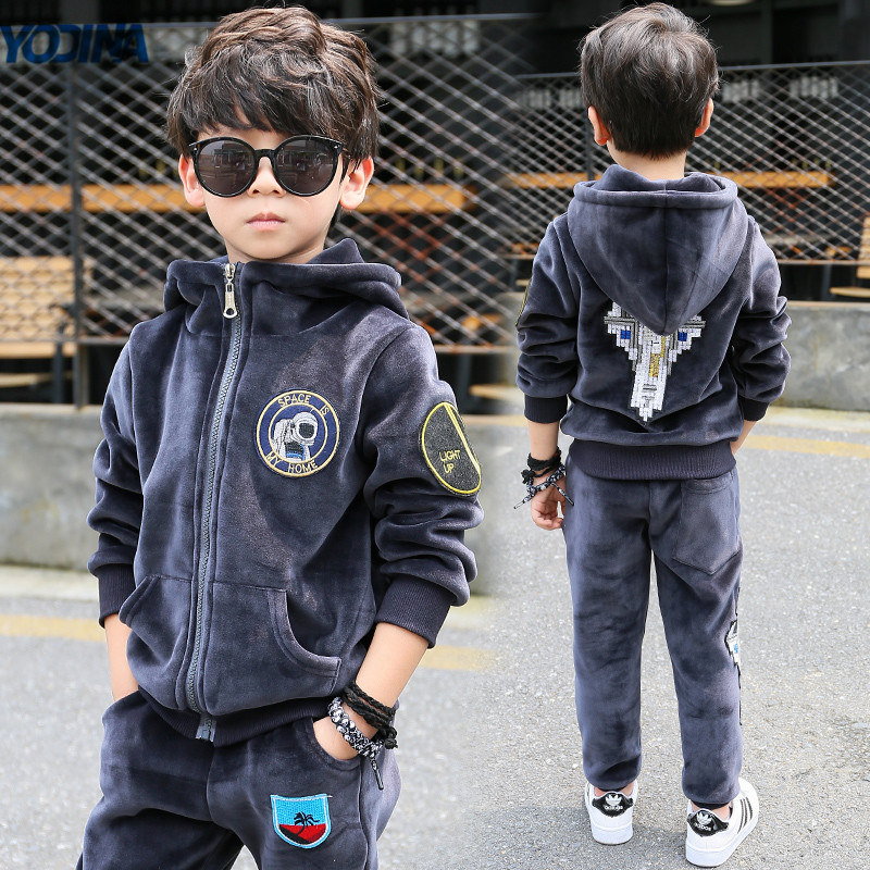 Kids Clothes Autumn Winter Boys Gold Velvet Clothing Set School Children Warm Thicken Sport Suit Fashion Kids Tracksuit kids clothes autumn winter boys gold velvet clothing set school children warm thicken sport suit fashion kids tracksuit
