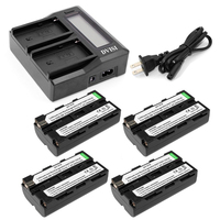 Ultra Fast 3X faster Dual Charger with 4pcs 2600mAh NP F550 NP F530 NP F570 Battery for Sony Z1 CCD SC55 TRV81 DCR TRV210 FD81
