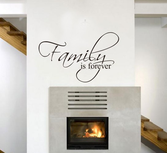 Family Is For EVER Removable Wall Stickers Quote Wall Decal Art Mural Decor image