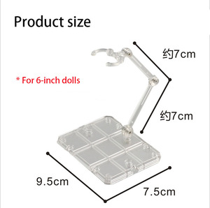 Image 3 - 10 Pcs Action Figure Base Suitable Display Stand Bracket for 1/144 1/100 Hg/rg Sd Rabot/animation Stage Act Suit