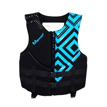 Fashion Life Vest Jacket Men Adjustable Life Jacket with Whistle Adult Swimming Life Vest for Surfing Boating Water Sports