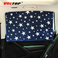 VOLTOP Magnet Car Curtain Front Side Window Sunshades Roller Blinds Auto Windshield Anti Sun Sunscreen Covers