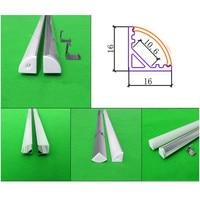 10 40pcs/lot 80 inch 2m 45 degree corner aluminum profile for 5050 led strip,milky/transparent cover for 12mm pcb,led bar light