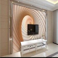 사용자 정의 크기 사진 배경 벽지 기하학적 공간 나선형 추상화 아트 벽 침실 mural 현대 벽지 장식