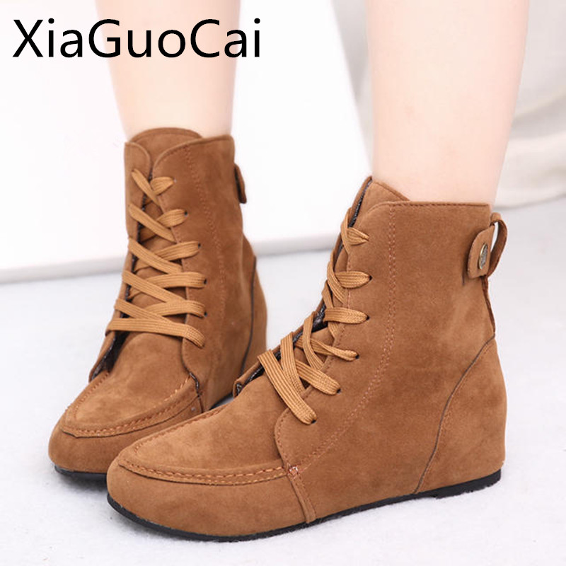 Autumn Fashion Women Casual Boots Cotton Fabric High Top Round Toe Fur Boots Ankle Shoes Cheap Martin Boots X1140 35 2017 high quaitily casual fashion 014
