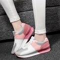 Весна гамп обувают женщин обувь мода увеличение высоты сетки удобные дышащие скольжению свободного покроя обувь ST793