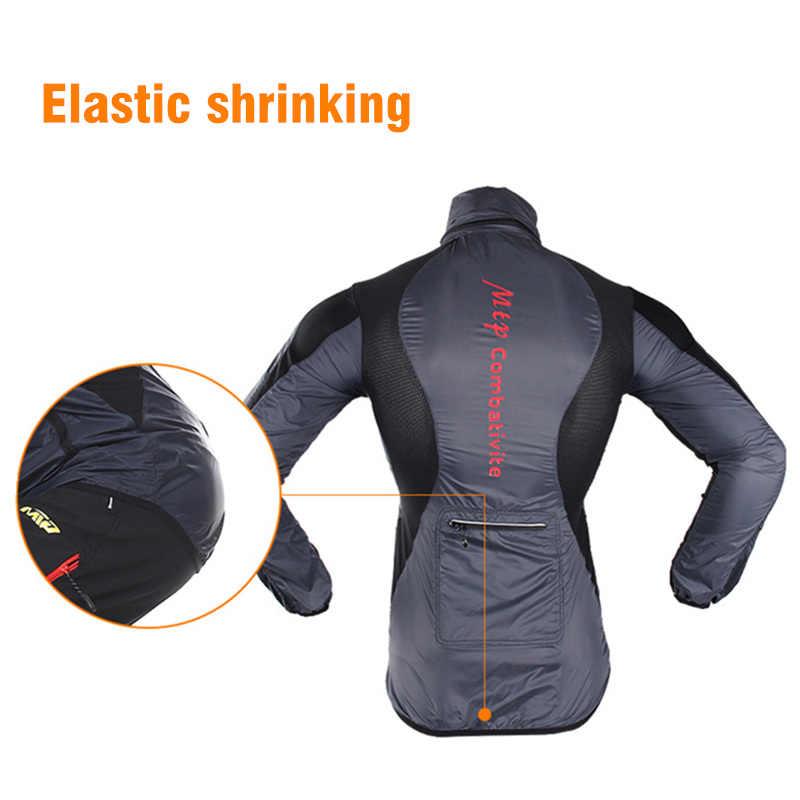 Reflektif Tahan Air Bersepeda Jaket Pria Wanita Windproof MTB Sepeda Jaket Hujan Bernapas Luar Ruangan Sport Nilon Berjalan Jas Hujan