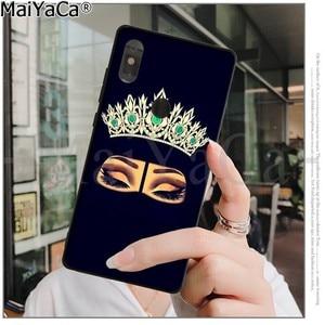 Image 5 - MaiYaCa musulman islamique Gril yeux noir coque souple couverture de téléphone pour Xiaomi Redmi 5 5Plus Note4 4X Note5 6A Mi 6 Mix2 Mix2S