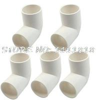 5 X White PVC Drainage Pipe Adapter Elbow Connectors Fittings 32mm Dia