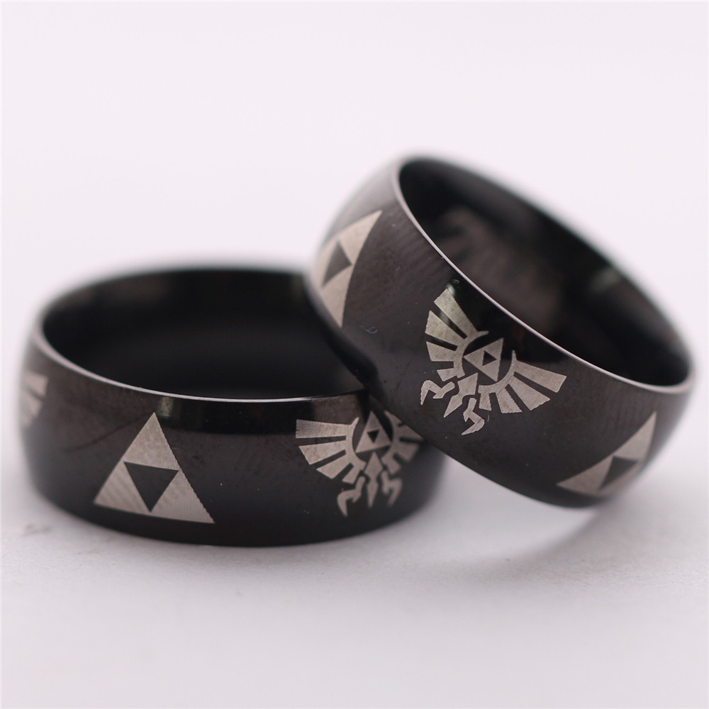 2015 Real Hot Sale Women Engagement <font><b>Rings</b></font> Fine Jewelry Retail 1pcs Anime Game The <font><b>Legend</b></font> <font><b>Of</b></font> <font><b>Zelda</b></font> Cosplay <font><b>Rings</b></font> Free Shipping image