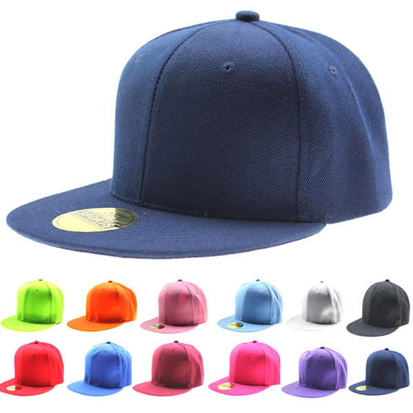 Hot Uomo Donna Berretto Da Baseball Solido Hip-Hop di Snapback Cappello Piatto Berretto Visiera