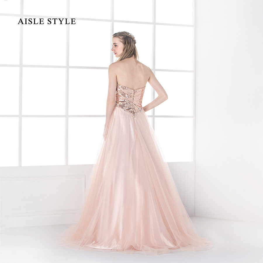 Aisle style women sparkly sweetheart long rose gold sequin aisle style women sparkly sweetheart long rose gold sequin bridesmaid dresses blush formal party dress in bridesmaid dresses from weddings events on ombrellifo Images