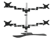 aluminum full movement 10-27″ 4 monitor liquid crystal display television desk mount 360 rotate four monitor desk assist display screen bracket holder stand clamp