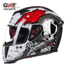 Cascos de moto de Carreras de Motocross Casco de Moto Casco de La Cara Llena de Doble Escudo