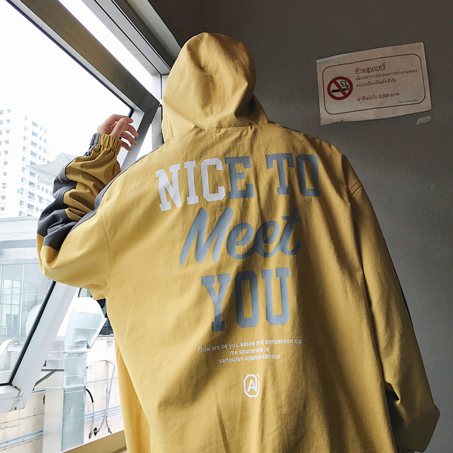 4a28ee68dab 18 spring and summer new trend printing hit color stitching hooded head  cotton sweatshirt jacket male fashion size student