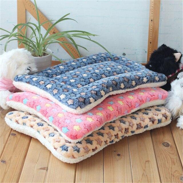 Caldo di inverno Del Cane Letto Morbido Pile Pet Coperta Gatto Lettiera Cucciolo