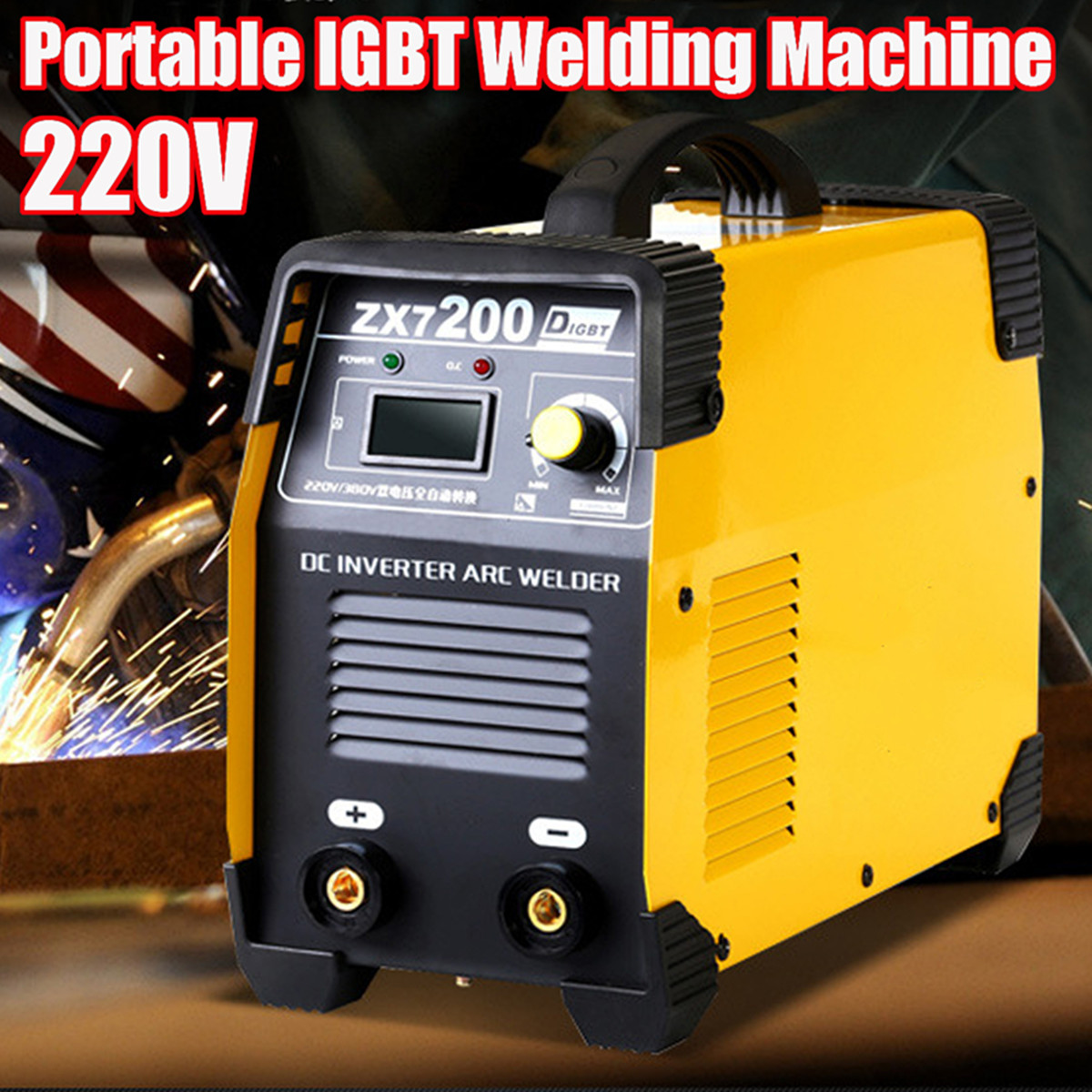 ZX7-200 220V Portable MMA IGBT Welding Machine DC Inverter 20-200A Mini Digital Air Cooling Electric Soldering Welding Tool цена