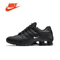 Оригинальный Новое поступление Аутентичные Nike 2018 SHOX NZ ЕС Для мужчин дышащие кроссовки спортивные кроссовки удобные дышащие