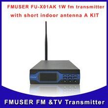 FMUSER FU-X01AK 1 Вт мощность регулируемый дальний вещания дома миниатюрный fm-передатчик с антенной и комплект питания для радиостанции