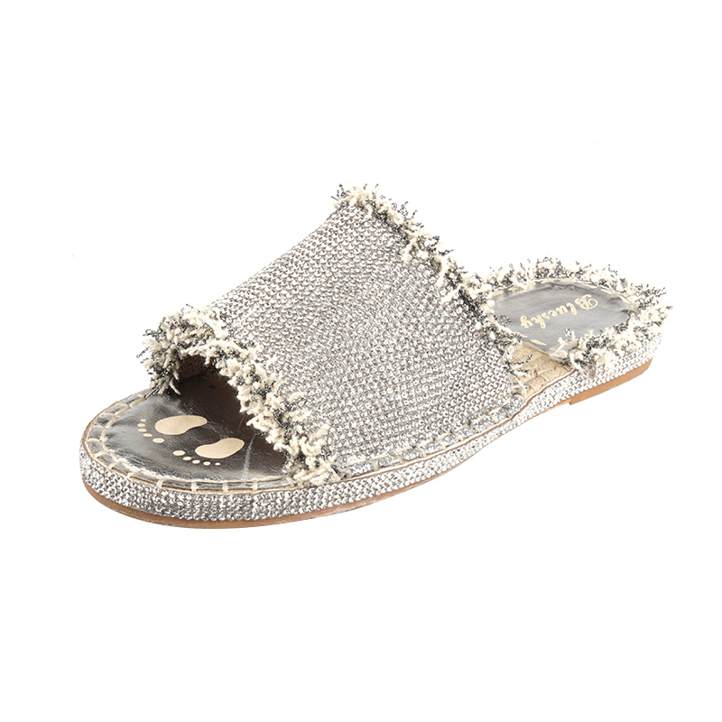 Verano Casual Mujeres Zapatos Slip On Slides Flat Slippers Mujeres - Zapatos de mujer - foto 5