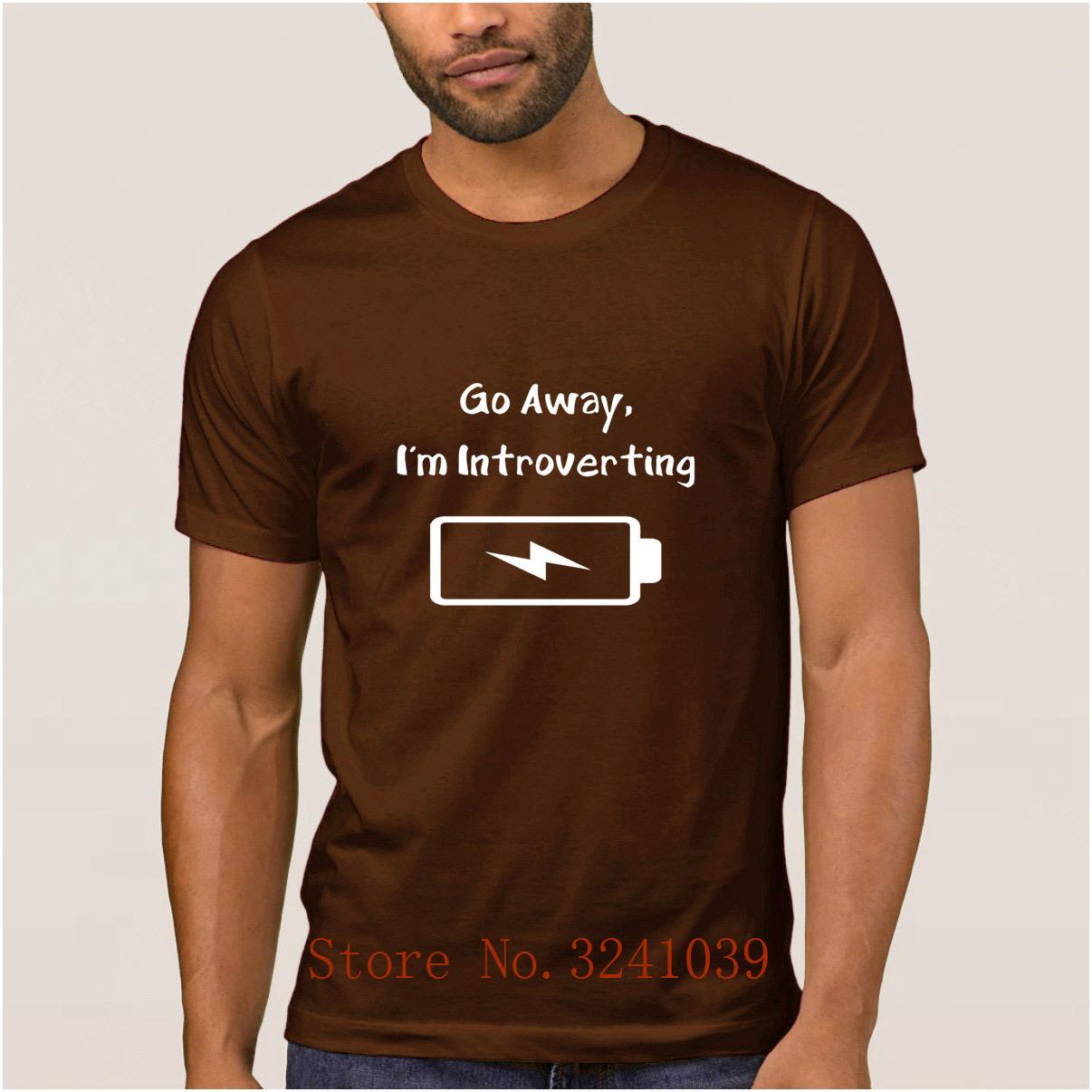 d350b7ae La Maxpa New Arrival go away I'm introverting anti social men's t shirt  2017 Graphic t-shirt for men Euro Size S-3xl tshirt
