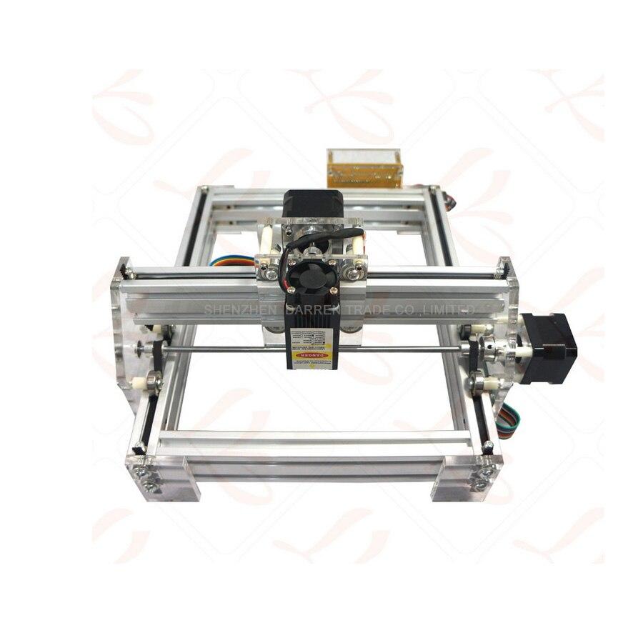 1 шт. 1,5 Вт DIY мини лазерная гравировка машина 1500 МВт Настольный DIY Лазерный гравер гравировальный станок картина принтер типа ЧПУ - 2