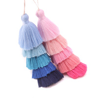 130mm Mixed Color Silk Tassel Charm Necklace Earring Findings Tassels DIY For Jewelry Finding Accessories