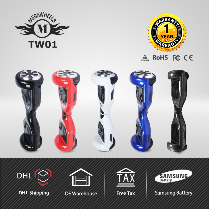 6.5 MegaWheels TW01 Samsung Battery Two Wheels Self Balancing Scooter Hoverboard Electric Scooter megawheels tw01s self balancing electric scooter red