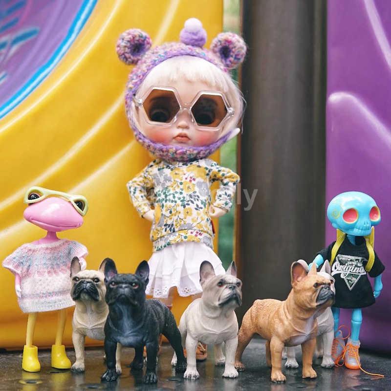 """NEW 1/"""" MINIATURE PET BULLDOG MINI PUPPY DOG DOLLHOUSE DISPLAY"""