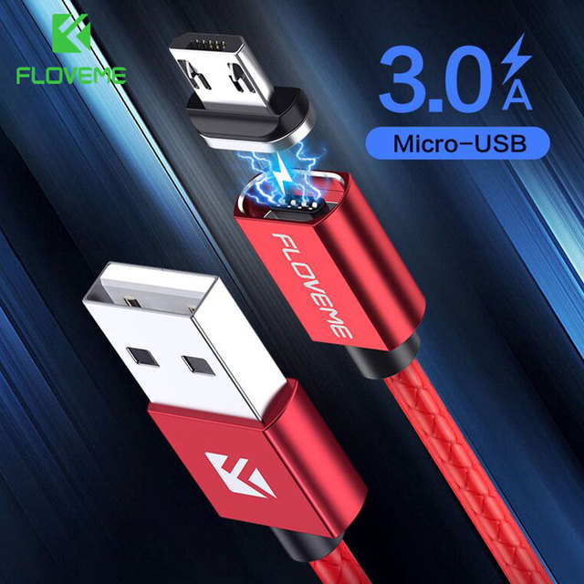 FLOVEME Magnetic Micro USB Cable 3A Fast Charge Data Magnetic Cable USB For Samsung S7 S6 Xiaomi LG Microusb Mobile Phone Cables