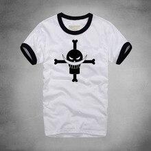One Piece Print Monkey.D.Luffy Round Neck T-shirt Casual Anime Fashion Cartoon Tshirt Short Sleeve Pirate Skull HipHop T Shirt