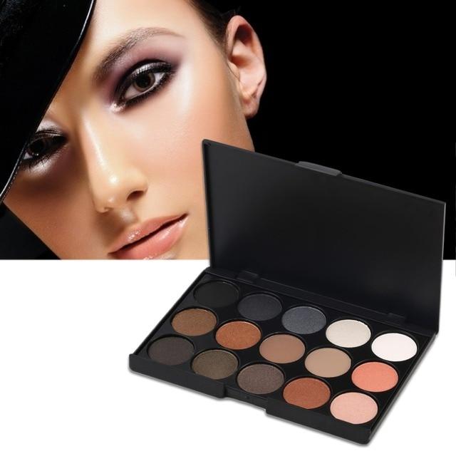 15Colors Matte Shimmer Eyeshadow Pallete Eye Make Up Cosmetics Makeup Waterproof Professional Salon Wedding Party And
