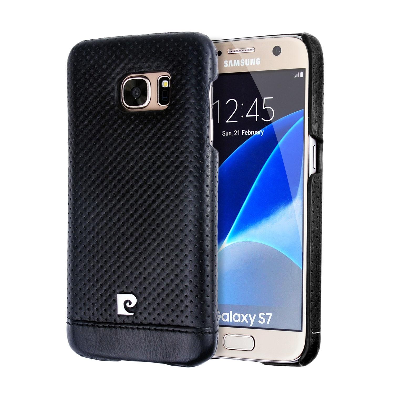 imágenes para Lujo Original de la Marca Pierre Cardin Caso Para Samsung Galaxy S7 Cuero genuino Del Teléfono Duro de La Contraportada Para Samsung Galaxy S7 casos