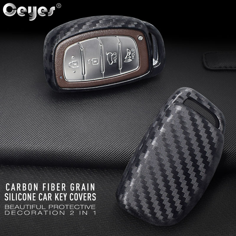 Ceyes Carbon Fiber Smart Shell Car Styling <font><b>Accessories</b></font> Case For <font><b>Hyundai</b></font> Elantra Tucson Verna Sonata <font><b>IX35</b></font> IX25 Sticker Auto Cover image