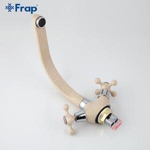 Image 5 - Frap Новый многоцветной распылитель, кухонный кран для раковины, смеситель для холодной и горячей воды, двойная ручка, вращение на 360 градусов, F5408 7/8/10/21