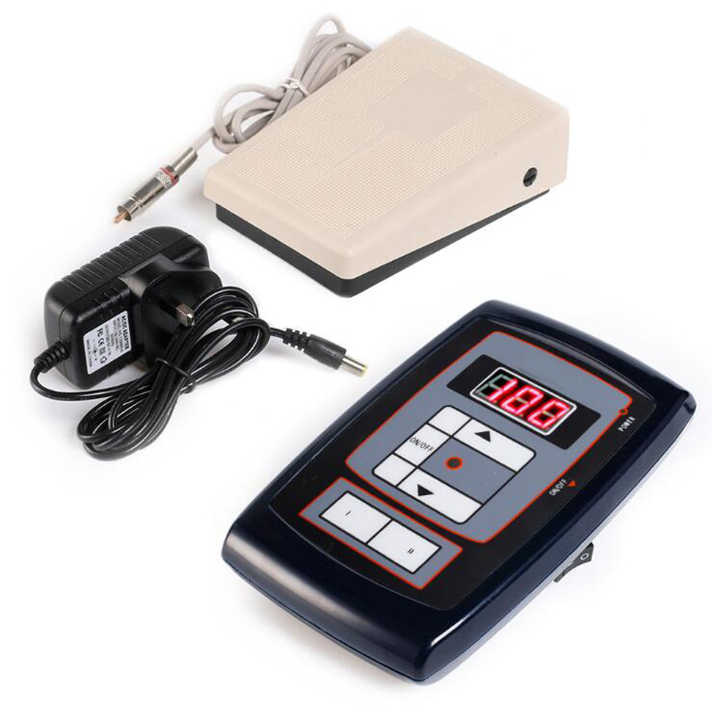 NEW Permanent Makeup Power Supply LCD Digital Adjustable Power Supply With Tattoo Foot petal for Tattoo Eyebrow Machine Kits