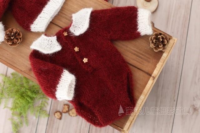 Handmade Crochet Mohair Newborn Overall outfit Baby Hooded romper Newborn  Knitted pant Onesie Sitter Baby girl 96dee953f8e1