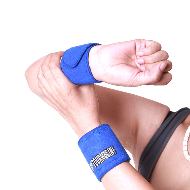 blue color new kind tourmaline magnetic Carpal Breathable Wrist Support Strap Brace Arthritis Sprain Protector Wristband