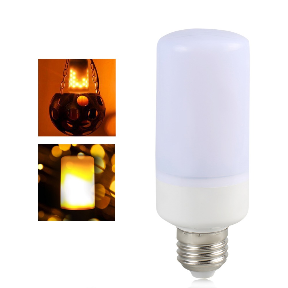 E27 E26 E14 E12 B22 LED Lamp Flame Effect 85-265V 2835SMD Led Fire Bulb Flicker flame Light 110V 220V fire Burning Leds Lampada
