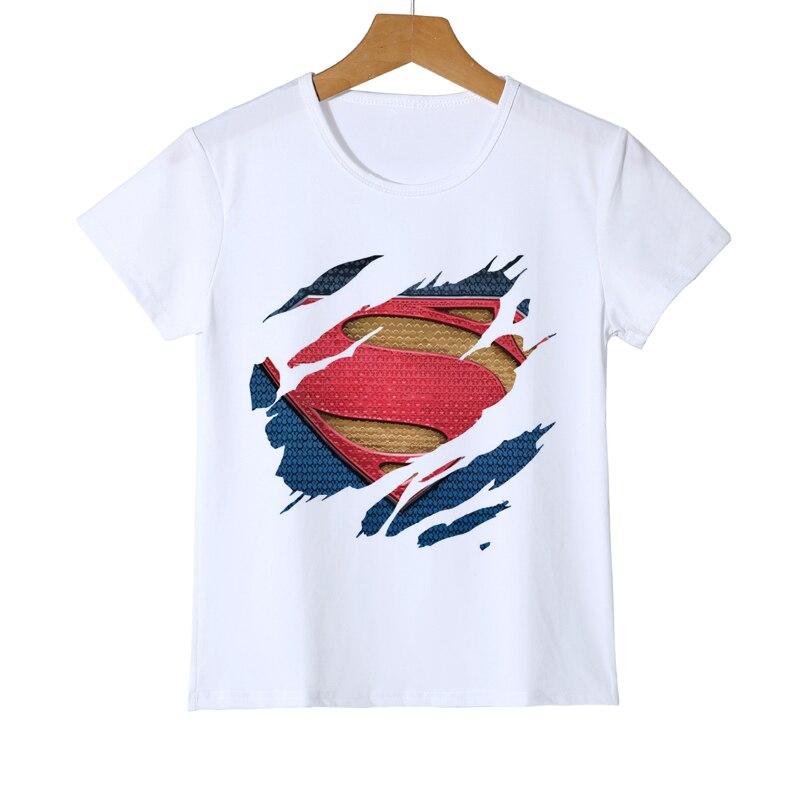 New Fashion Superman Kids T Shirt Boy Summer Style Short Sleeve Girls Casual T-shirt Superhero Baby Top Tees Z35-8 new style fashion baby boy girls clothes novelty short sleeve t shirt costume tees tops 2 7t